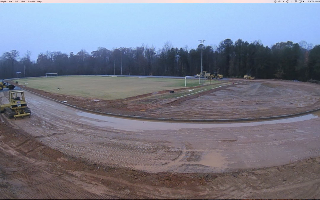 Track construction time lapse