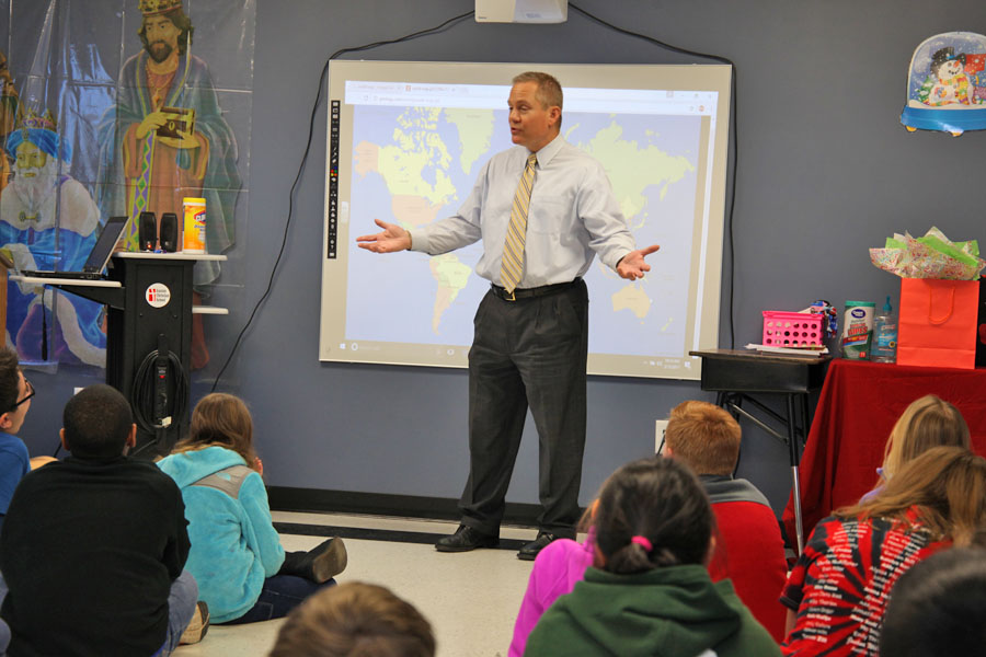 WBTV Al Conklin visit 5th grade
