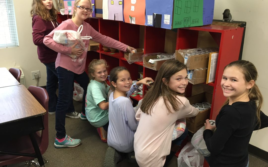 5th grade Bible classes giving back