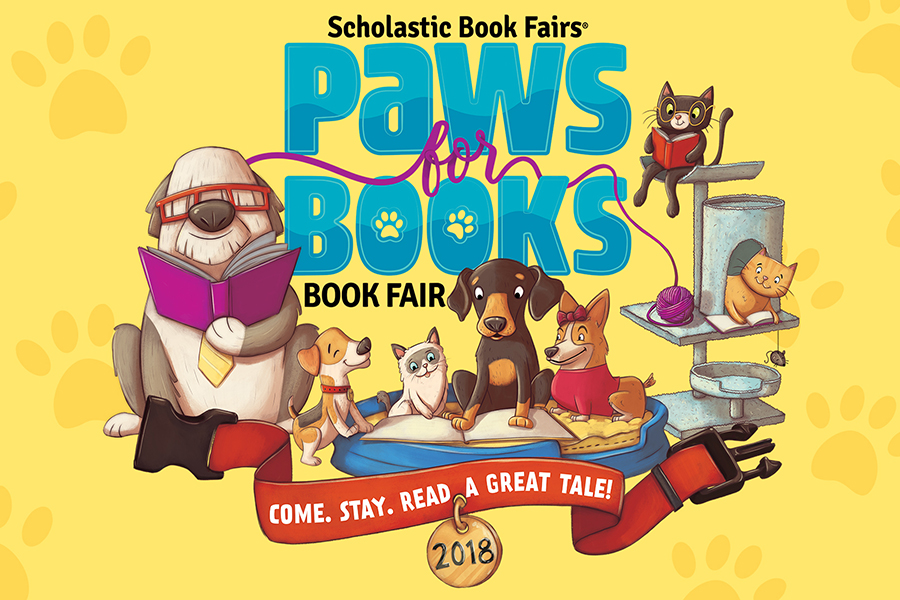 Paws for Books Scholastic Book Fair