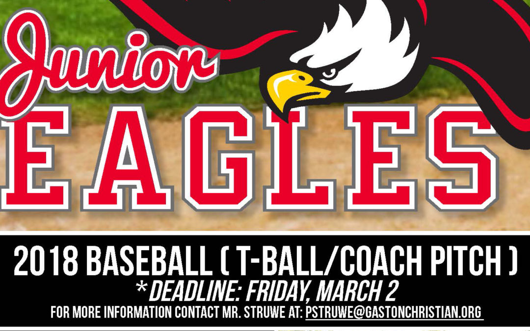 Junior Eagles Baseball signups