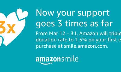 Triple AmazonSmile donation promotion