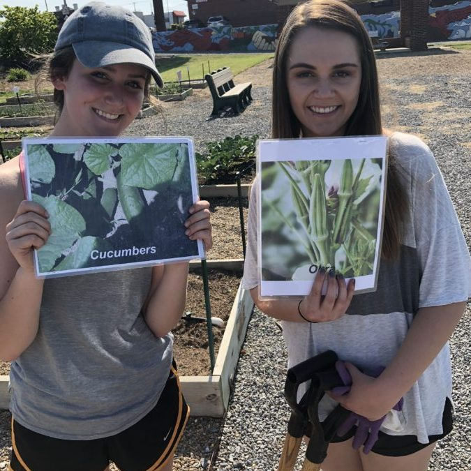 GCS Interact working at Community Garden