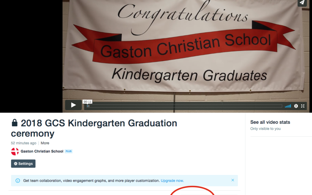 GCS Kindergarten graduation video link