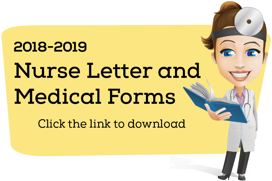 2018-19 School Nurse Letter & Forms