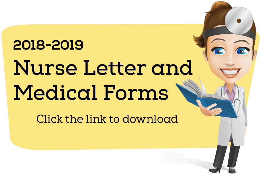 2018-19 School Nurse Letter & Forms