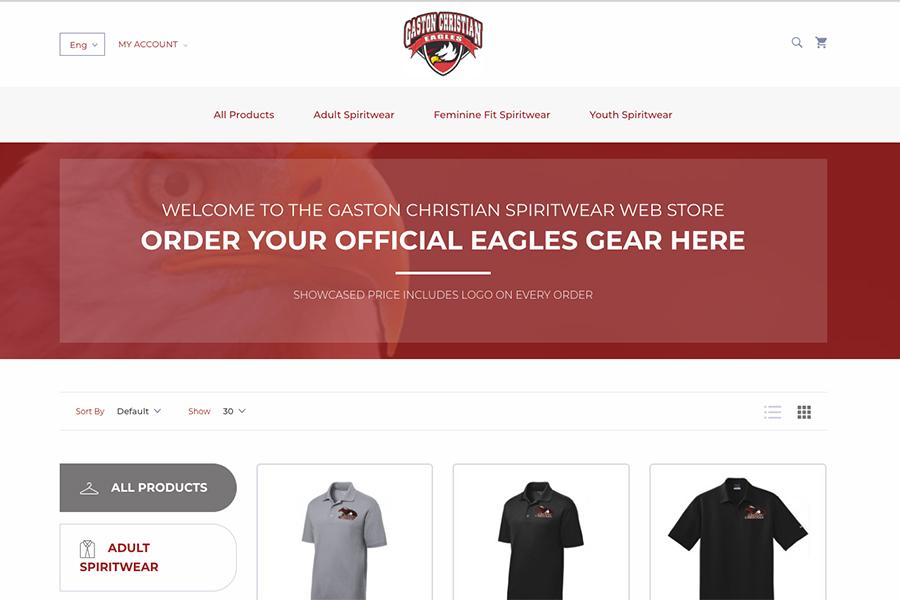 2018 GCS Spiritwear Web Store