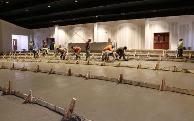 New auditorium floor