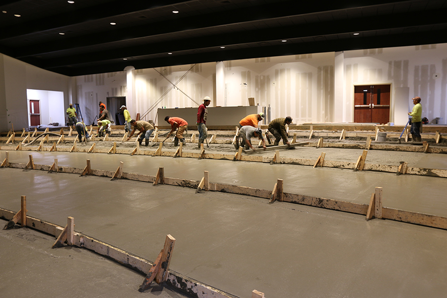 New auditorium floor