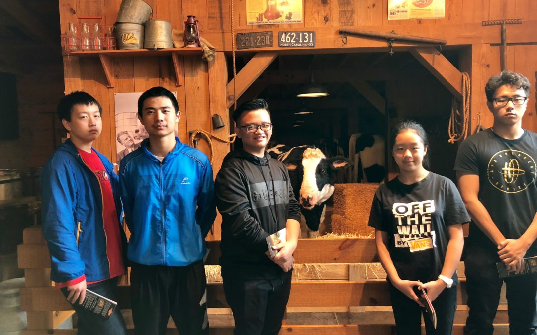 International students go to Billy Graham Library