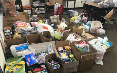 Hurricane Relief items donated by parents
