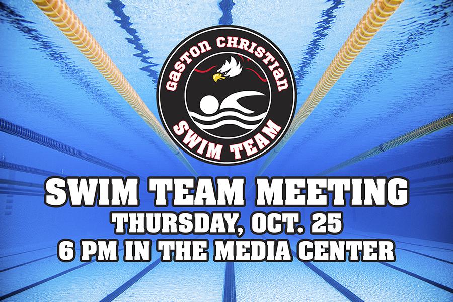 Swim Team Meeting 10/25/18
