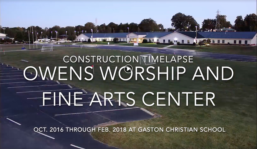 Owens Worship and Fine Arts Center construction to dedication video