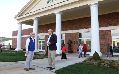 Rep. Patrick McHenry visits Owens Fine Arts Center