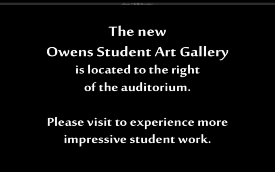 GCS Spring 2019 Student Art Gallery promo