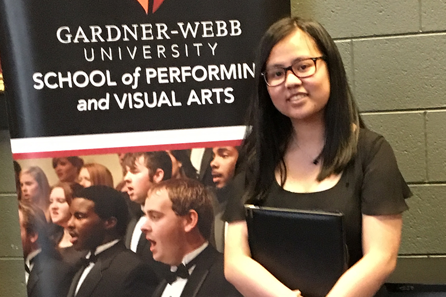 Huang participated in GWU Choral Clinic
