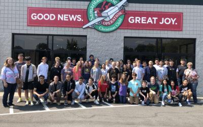 International Club serves at Samaritan's Purse Warehouse