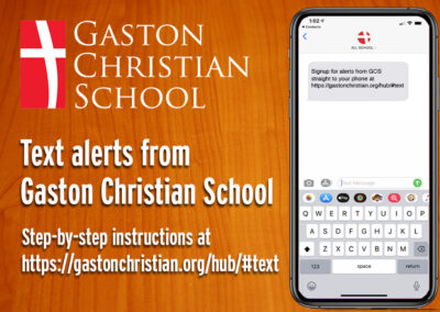 GCS Text Alerts SIGNUP instructions